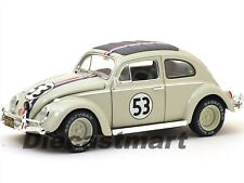 Hot Wheels Volkswagen Beetle Herbie № 53 Rally 1962 Goes to Monte Carlo 1/18 Modellino Auto - Avorio