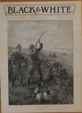 Bird Hunters, English Setters, Retrievers, Shotguns, 2 Prints 1895 Antique Print