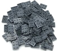 Lego 100 New Dark Bluish Gray Plates 2 x 3 Dot Pieces