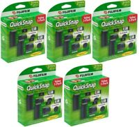 10 x Fujifilm Quicksnap Flash 400 Disposable Single Use 35mm Film Camera FRESH