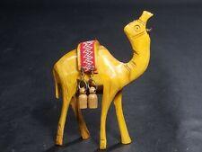 Vintage German Black Forest Brienz Wood Carving Figurine Camel w/ Cloth Saddle