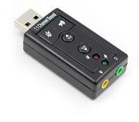 USB 2.0 External Sound Card Channel 7.1 3.5mm Adapter Microphone Headphone Audio