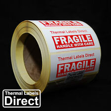 1000 x Fragile Handle With Care Labels Stickers Custom Text   FRA_100x38_001