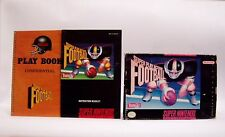 SUPER PLAY ACTION FOOTBALL Box & Manual only SNES SUPER NINTENDO