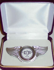 De Havilland Comet Aircraft Fighter Plane Pilot Crew Wing Jacket Hat Pin Badge