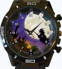 Witch On Broom Fullmoon New Gt Series Sports Unisex Gift Watch
