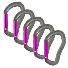 Fusion Climb Techno Zoom Straight Gate Ergonomic Carabiner Gray/Purple 5-Pack
