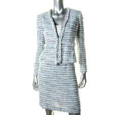 NWT Tahari - Salvator Shirley Tropical Twist Tweed Eye Hook Skirt Suit 8 $320