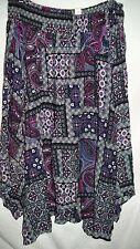 Hanky hem asymmetric elastic waist Spring Summer holiday skirt 20 Spice paisley