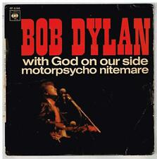 """BOB DYLAN   With God on our side  7"""" 45 tours EP"""