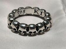 Mens King Baby Skulls Ring Sterling Silver .925 ~ Size 7!!!