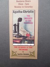 BOOKMARK AGATHA CHRISTIE Murder at the Vicarage Book Cover Wallace & Scott
