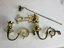 Antique Brass Candleholders - with other parts