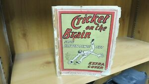 """Cricket on the Brain by M.C.C. illustrated by """"Gil"""" (1905)"""