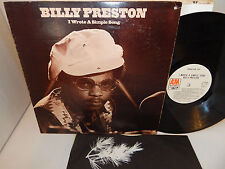 BILLY PRESTON I WROTE A SIMPLE SONG White Label Promo 1971 SP 3507 Funk Soul LP