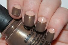 NEW! China Glaze Nail Polish Lacquer in INGRID ~ Earthy Brown Creme Gold Shimmer