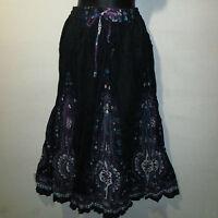 Skirt Fits S M L XL Broomstick Blue Purple Dashiki Africa Long NWT PP