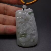 Certified Grade A 100% Natural Green Jade Jadeite Pendant Carved 竹 Dragon 10891