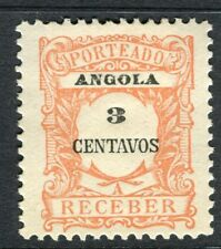 PORTUGUESE ANGOLA 1900s early Postage Due issue Mint unused 3r. value