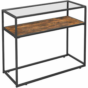 Nancy's Console Table - Side Tables - Coffee Table - Glass and Wood Table - 100