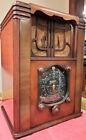 Huge Gorgeous Antique 1936 Zenith 8S129 Walnut Tombstone Tube Radio - Untested