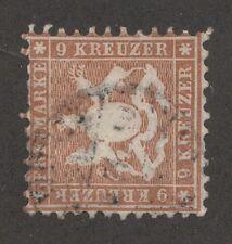 Kappysstamps 4047 Germany Wurttemburg Scott # 39 Used C Atalog = $140