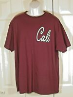 CALIFORNIA REPUBLIC Men T Shirt XL Burgundy 100% Cotton New