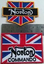 2x Cafe Racer Ton Up 59 Club NORTON COMMANDO Vintage British AUFNAHER TOPPA