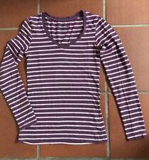 Primark Shirt Gr. D 32 152 158 lila rosa weiss Longsleeve T-Shirt Ringelshirt