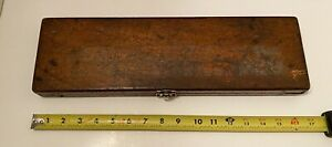Vintage Micrometer Depth Gage Wooden Box Only