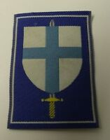 Genuine Military Issue Sword &  Shield Unknown Insignia Sew On Patch APOR23B