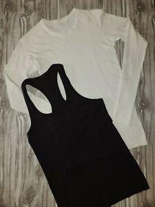 LOT OF 2 Lululemon Swiftly Racerback Tank Top & Shirt Women's Size 6 ~Damaged