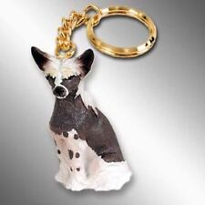 Chinese Crested Dog Tiny One Resin Keychain Key Chain Ring