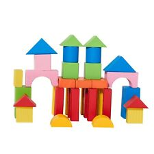 Eliiti Wooden Building Blocks Set Toy for Toddlers Kids 3 to 6 Years Old 40 Pcs