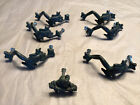 """Vintage Pewter Frog Drawer Pull Lot Of 6 3"""" Center + Small Pull"""
