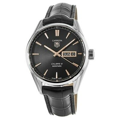 New Tag Heuer Carrera Calibre 5 Day-Date Automatic Men's Watch WAR201C.FC6266