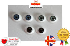 More details for solid glass eyes oval flat back 22mm,20mm for reborns,ooaks and other crafts