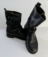 Rag & Bone Womens Black Leather Moto Boots Size EU 37.5 US 7.5