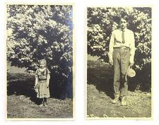 Two Original Vintage Black & White Photographs, Children, Sunday Best Clothes