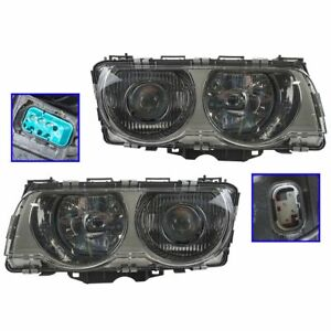 HID Xenon Headlights Headlamps Left & Right Pair Set NEW for 99-01 E38 7 Series