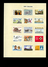 New Zealand Album Page Of Stamps #V5256