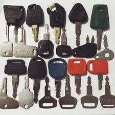 22 Construction Ignition Keys/Heavy Equipment Key Set CAT Komatsu Case volvo JCB