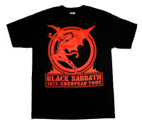 BLACK SABBATH - Europe 1975 - T SHIRT S-M-L-XL-2XL Brand New - Official T Shirt