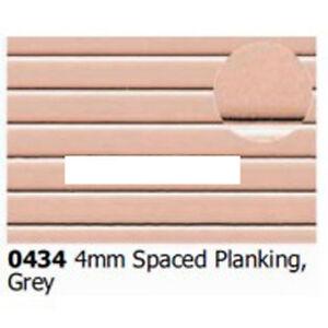 Slaters 0434 0.5mm x 300mm x 174mm Embossed Planking 4mm Plastikard Sheet 1stPos