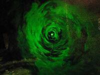 HALLOWEEN VORTEX TUNNEL PORTAL PROP CLASS3 GREEN LASER SPIRIT FOG MACHINE EFFECT
