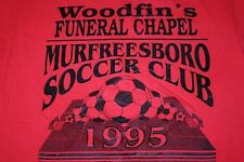 S * vtg 90s 1995 Funeral / Soccer t shirt * Murfreesboro Tennessee * epic 16.22