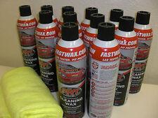 12 Cans FW1 FASTWAX *Full Case* Waterless Wash Carnauba Car Wax FREE SHIP+TOWELS