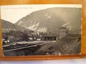 Mount Union PRR Train depot station Published by A.E. Fields Huntingdon, Pa.