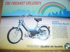 PUCH MOFA MAXI N BRAVO WERBUNG SEITE BERICHT ARTIKEL 80er 80s 1985