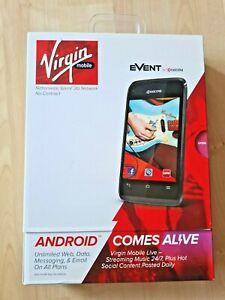 Kyocera Event C5133 Android Smartphone 4GB, Black - Virgin Mobile Cellular Phone